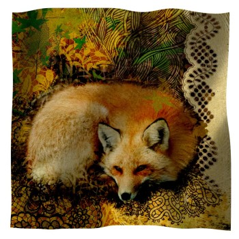 Scarf with fox
