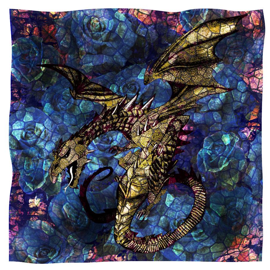scarf dragon blu
