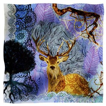 scarf cervo blu