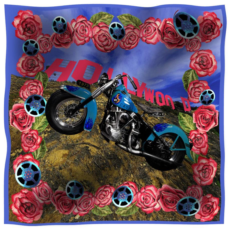scarf hollywood bike