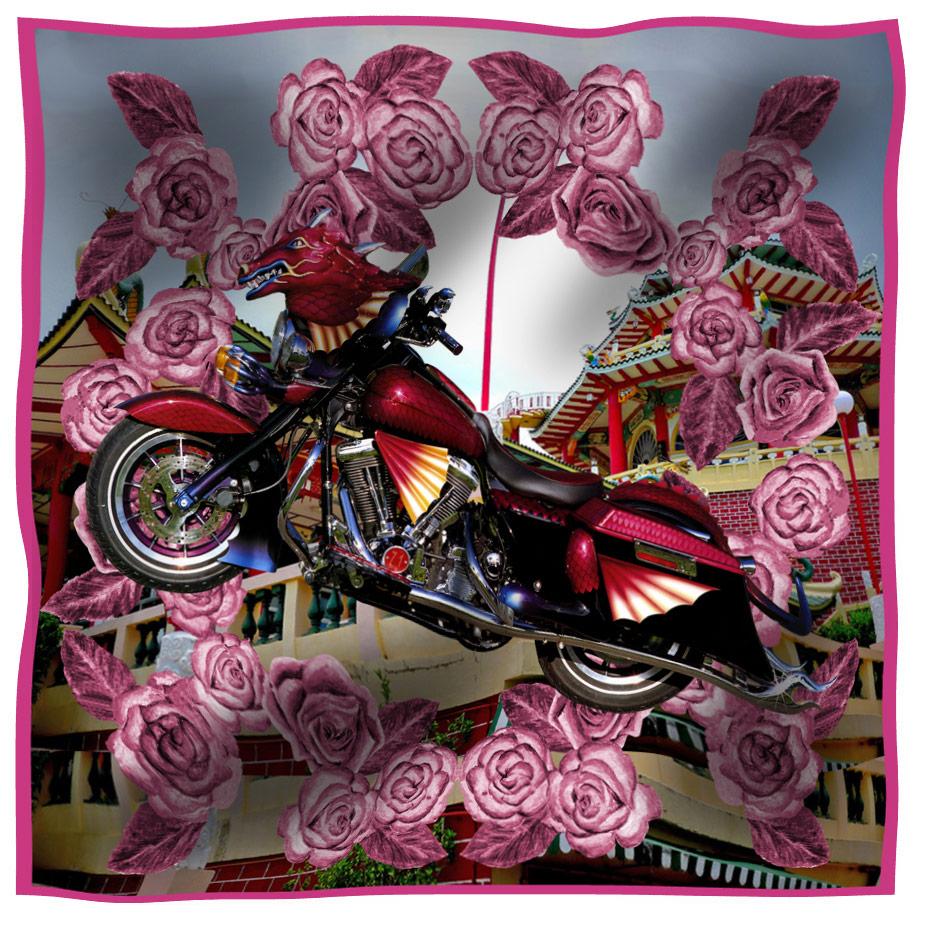 scarf drago pink