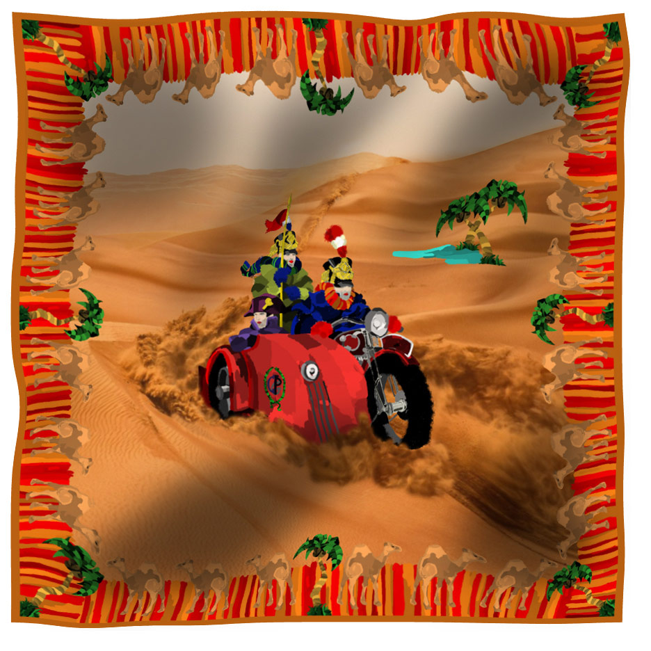 scarf napoleon red